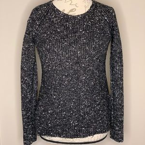 ANN TAYLOR black and white speckled sweater